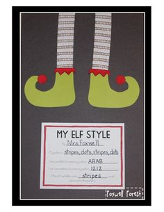First Grade in Foxwell Forest: My Elf Style {A Pattern Craftivity}