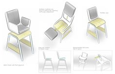 Sketches by Jeffrey Smith, via Behance Chair Design, Furniture Design, Furniture Sketches, Sketch Design, Industrial Design, Behance, Layout, Concept, Architecture