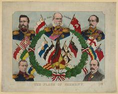 Banderas alemanas anteriores a la unificación (aproximadamente entre 1867 y 1871)