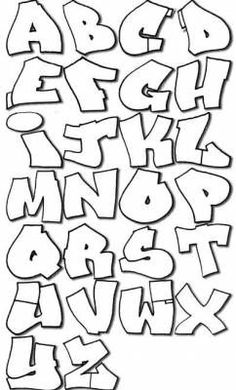 Alphabet Graffiti Facile Recherche Google