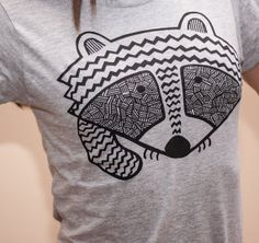 raccoon tshirt women's tee by exit343design on Etsy, $20.00