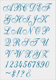 Font Cursivo for Machine Embroidery - pes - jef - xxx - dst - exp - hus - vip - Calligraphy Fonts Alphabet, Tattoo Fonts Alphabet, Cursive Alphabet, Hand Lettering Alphabet, Fancy Fonts Alphabet, Copperplate Calligraphy, Handwriting Fonts, Graffiti Lettering Fonts, Tattoo Lettering Fonts