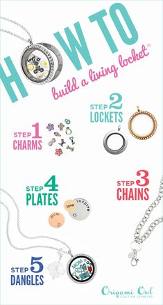 Origami Owl Custom Jewelry, Renowned source for personalized lockets and charms. Start as an Origami Owl Independent Designer today. Origami Owl Necklace, Origami Owl Lockets, Origami Owl Jewelry, Origami Owl Business, Locket Bracelet, Useful Origami, Diy Origami, Mode Origami, Origami Owl Games