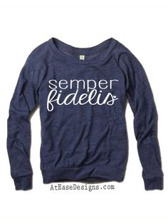Semper Fidelis  Marine Corps long sleeve. by AtEaseDesigns on Etsy, $35.00