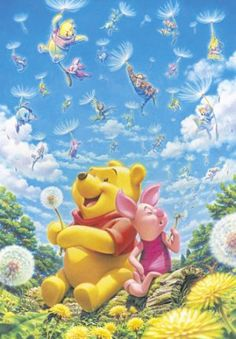 Pooh  Piglet Dandelion Wishes : My wish for you is that your wish comes true! @lcoulier @BrittMitchell12