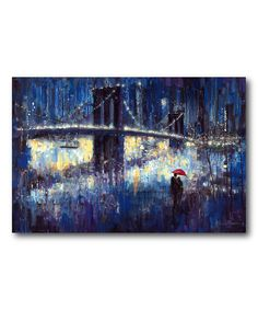 Take a look at this Blue Moon Wrapped Canvas today!