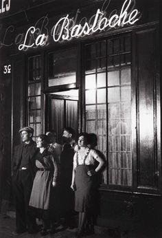 Brassaï. La Bastoche, Rue de Lappe 1930′s