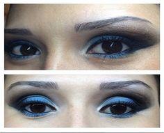 Os Beauty Teams da NYX de Cuiabá também estão super antenados com a invasão do azul na maquiagem