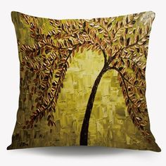 4$  Watch now - http://dibl0.justgood.pw/go.php?t=201209301 - Oil Painting Tree Square Cushion Throw Pillow Case