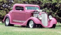 Pink car 1934 Chevy Coupe