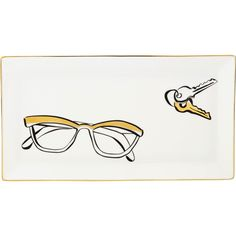 There's a place for everything...and this Kate Spade New York Daisy Place Eyeglass Tray is the perfect spot for eyeglasses or jewelry.