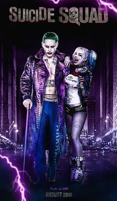 Jared Leto & Margot Robbie as Joker & Harley Quinn