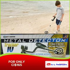 There is a bounty treasure waiting for you at Seven Mile Beach. Get your Bounty Hunter Metal Detector today! #ALThompsons #BountyHunter #MetalDetector