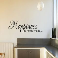Happiness is home made Kitchen Home Family Autocollant par WWDecals, £14.99