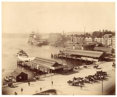 Circular Quay, Sydney from Fred Hardie - Photographs of Sydney, Newcastle, New South Wales and Aboriginals for George Washington Wilson & Co., by State Library of New South Wales collection Sydney City, Old Pictures, Old Photos, Aboriginal History, Botany Bay, Historical Pictures, Sydney Australia, Newcastle, Photography
