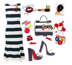 """""""Cherry pickers"""" by ellenfischerbeauty ❤ liked on Polyvore featuring Christian Louboutin, Dolce&Gabbana, Free People, Tom Ford and Georgia Perry"""