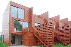 Arnhem, wijk Malbergen ( Köther, Salman,  Koedijk) Sustainable Architecture, Modern Architecture, Townhouse, Sustainability, Multi Story Building, Balconies, Mansions, Facades, House Styles