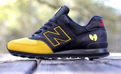 "New Balance 574 ""Wu-Balance"" Custom. The only pair of sneaks that will appear here simply because of the cool factor. Love it!"