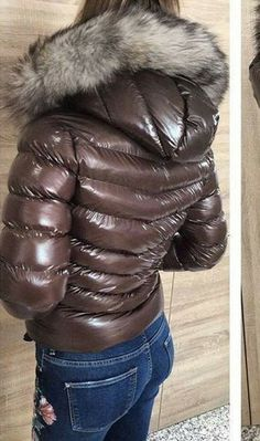 Cool Jackets, Jackets For Women, Winter Jackets, Fur Jackets, Nylons, Winter Suit, Down Puffer Coat, Puffy Jacket, Other Outfits