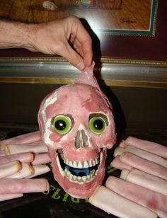 Halloween party food - Meat Head!