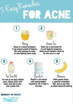 Green tea and honey are among our top 5 remedies for acne.