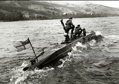Royal Navy midget submarine underway at Gareloch, Scotland, Midget Submarine, Royal Navy Submarine, History Online, Navy Military, Navy Ships, Military Weapons, Historical Pictures, Battleship, Sailing