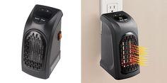 Αποκτήστε το μίνι φορητό κεραμικό αερόθερμο πρίζας Handy Heater (350W), για να κρατάτε το σπίτι σας ζεστό! Διαθέτει περιστρεφόμενη...