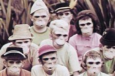 """No. 4 on our list of Best #Classroom Films: """"One Got Fat"""" (1963), a #bicycle safety film in which children don monkey masks that resemble skulls. One by one the monkey children disobey the rules of the road and suffer the consequences. Some viewers reported lasting nightmares, while one online reviewer describes it as """"a masterpiece."""" #1960s"""