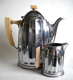 Art Deco Chrome Coffee Pot by modobjects on Etsy
