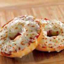 Receta de Bagel Pizza