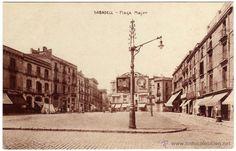 BONITA POSTAL - SABADELL (BARCELONA) - PLAÇA MAJOR - AMBIENTADA - Foto 1