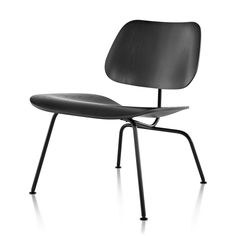 Eames Molded Plywood Lounge Chair Metal Base by Charles & Ray Eames for Herman Miller.