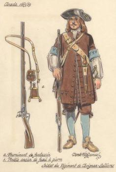 Soldat de Carignan-Salières avec ses vêtements et son  équipements