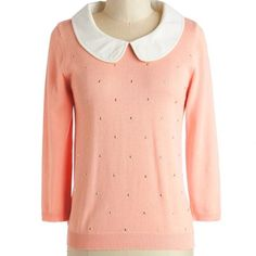 Modcloth Nicolette Mason Femme Finesse Top L This cute sweater has only been worn once or twice by me. I just don't wear sweaters unless they're cardigans, so my loss is your gain! Size L. ModCloth Sweaters