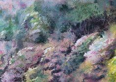 Podróż w czasie - Hanami | Anna Chmiel #tree #watercplor #painting #annachmil #japan #art #abstract #landscape #watercolor #painting #anna_chmiel #malarstwo #krakow #hanami #danielsmith #danielsmithwatercolors
