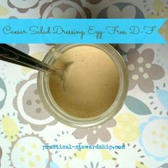 Caesar Salad Dressing, Egg-Free, Dairy-Free.  This is the recipe Dr Joel Fuhrman shared on the Dr Oz Show.  It is part of Dr Fuhrman's immunity diet.