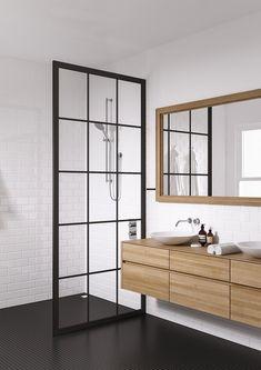 Kjøp - 10995,-! Industridusjvegg. Få stilren och härligt industriell känsla i rummet antingen som Divider, Interior Decorating, Bathroom, House, Furniture, Decoration, Home Decor, Quartos, Modern