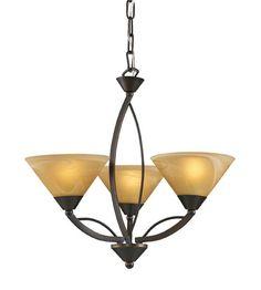 ELK Lighting Elysburg 3 Light Chandelier in Aged Bronze 7645/3 #elk #elklighting #lightingnewyork #lighting