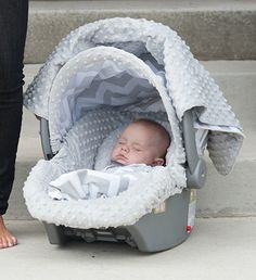"""THE WHOLE CABOODLE CARSEAT CANOPY BABY CAR SEAT COVER 5 PC SET NEW """" CHEVY """" #Carseatcanopy"""