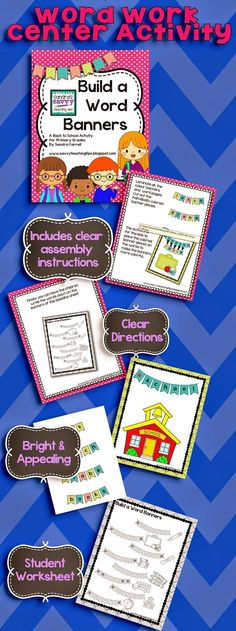 Great word work activities for back to school from sandra's savvy teaching tips