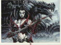 Claudia Ex-Libris by Olivier Ledroit, in IgorDavidoff's Olivier Ledroit Comic Art Gallery Room - 1170585