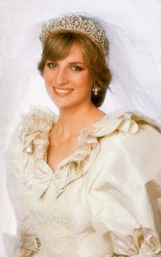 Lovely Princess Diana on her wedding day.
