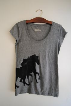Horse Print T-shirt available on Etsy