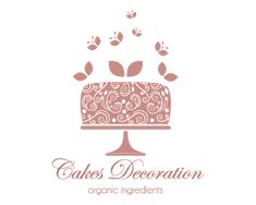 cakes decorations Logo design - This logo is ideal for :bakery, cake shop, cupcake shop, food blog, confectionery, dessert catering service, patisserie shop or factory, dessert recipe site, pastry shop, yogurt shop, Cafe