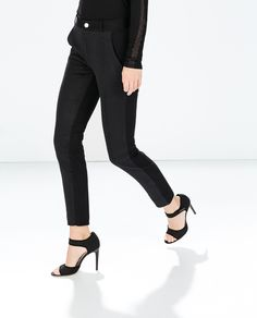 Image 2 of MIXED JACQUARD TROUSERS from Zara