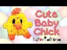 Rainbow Loom Cute BABY CHICK Charm. Designed and loomed by TutorialsbyA. Click photo for YouTube tutorial. 03/11/14