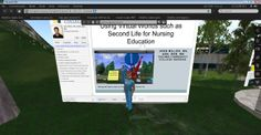 This image depicts Second Life as an innovative teaching-learning activity that adds a real-life component to online nursing education programs. Nurse educators can use Second Life virtual learning environments to create clinical simulation scenarios and enhance discussions within online courses.