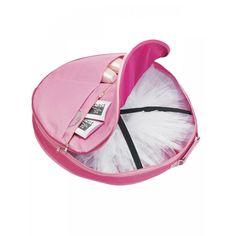 Pink Ballet Shoes Large Pancake Tutu Zip Around Bag