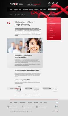 Home.pl redesign by Pawel Szczygiel, via Behance