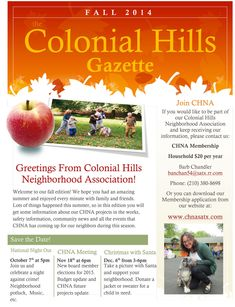 neighborhood newsletter examples - Google Search | POA | Pinterest